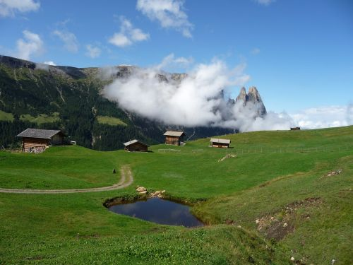 mountains alpine landscape