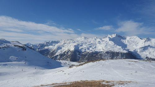 mountains the alps snow