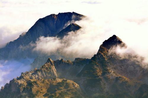 mountains clouds landscape