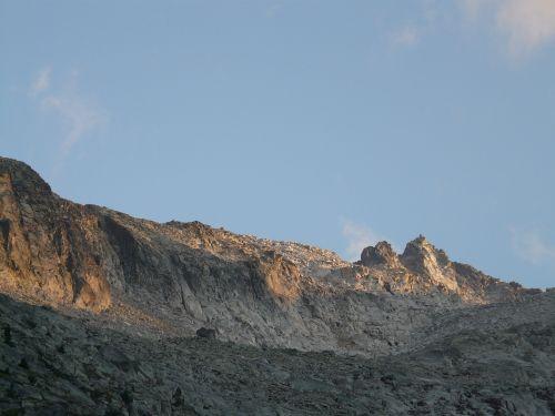 mountains alpine rock