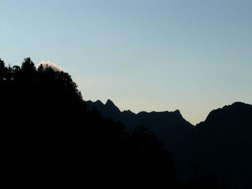 mountains sky tree