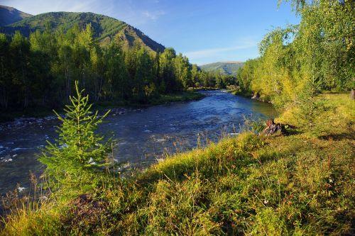 mountains river mountain river