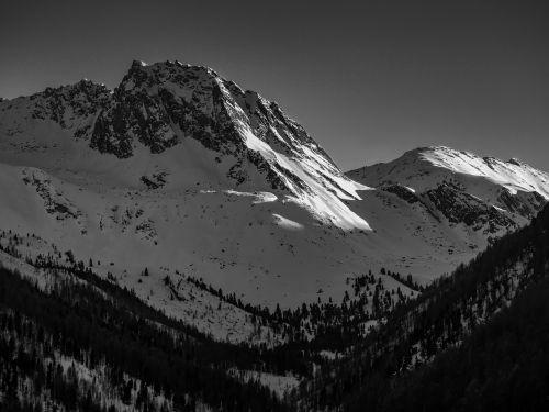 mountains,black white,black and white,landscape,nature,snow,alpine,dramatic,winter,black and white recording,mountain peaks,black,tyrol,south tyrol