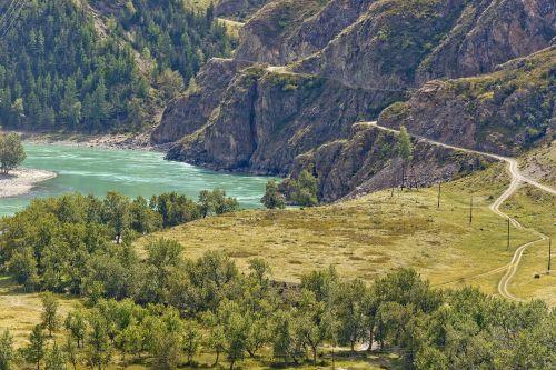 mountains landscape mountain altai