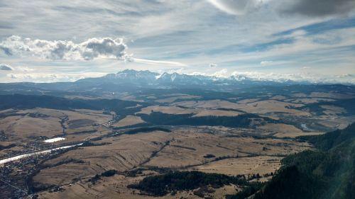 mountains top sky