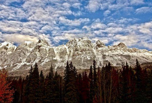 mountains rockies snow