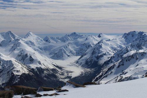 mountains landscape snow