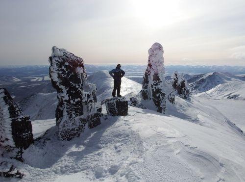 mountains climbing rocks