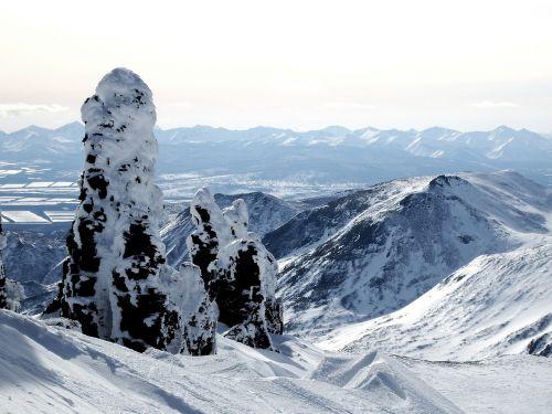mountains ridge winter
