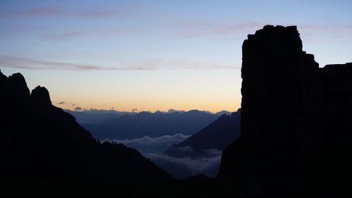 mountains sunrise cross