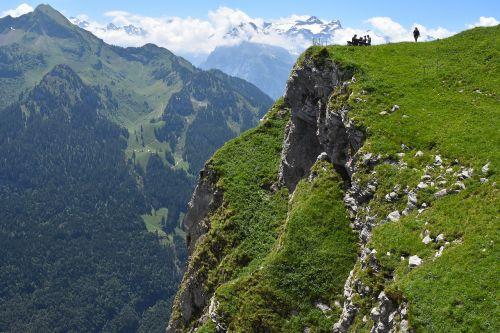 mountains ridge picnic