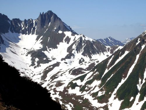 mountains ridge climbing