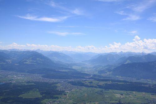 mountains panorama landscape