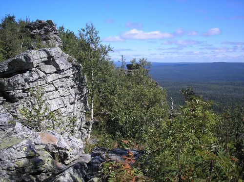 mountains rocks sky