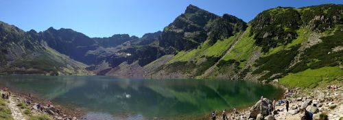 mountains tatry black pond a tracked