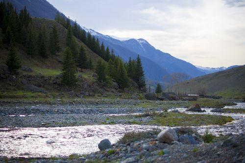 mountains creek river