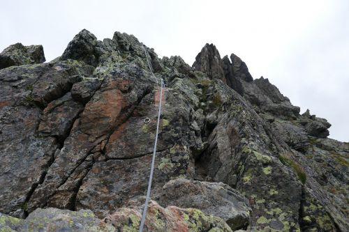 mountains climb climber