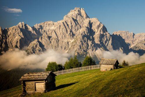 mountains alm alpine