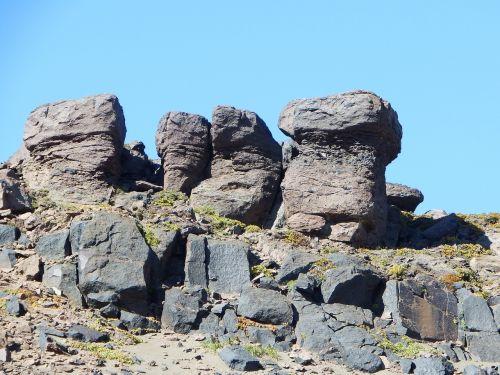 mountains stones figures