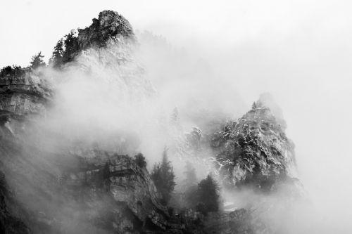 mountains fog provo
