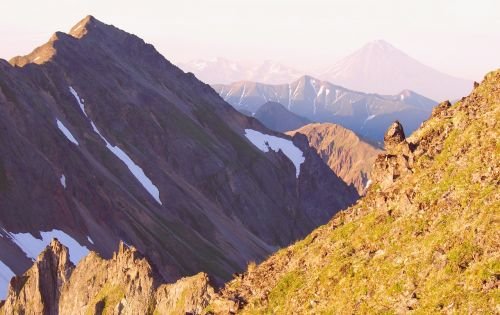 mountains volcano climbing