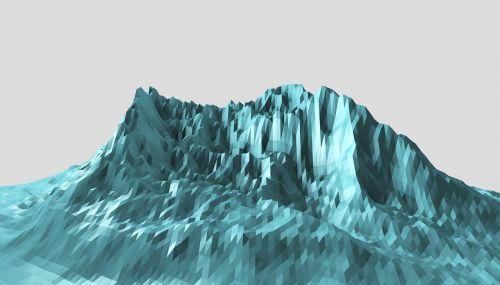 mountains polygonal a few polygons