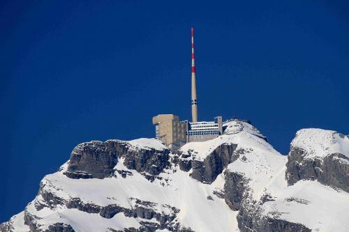 mountains säntis snow