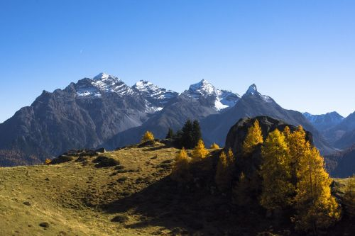 mountains autumn alpine
