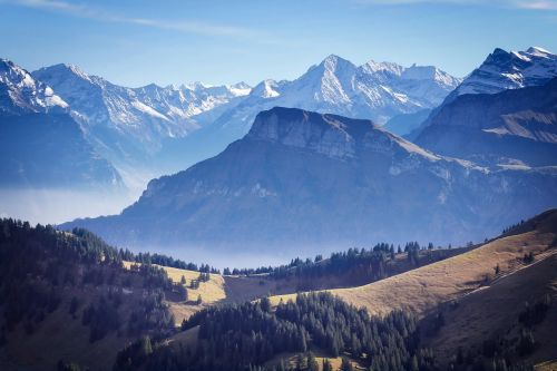 mountains switzerland nature