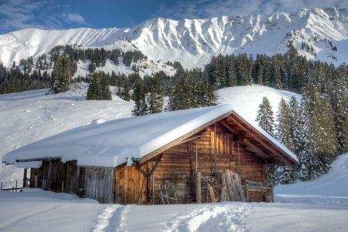 mountains hut s