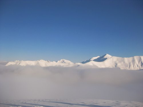 mountains  winter  ridge