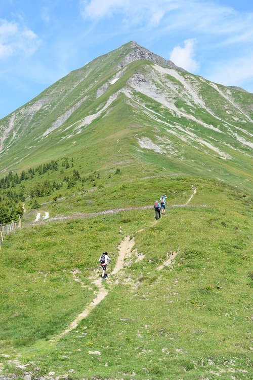mountains  wanderer  landscape