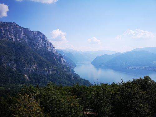 mountains  traunsee  upper austria