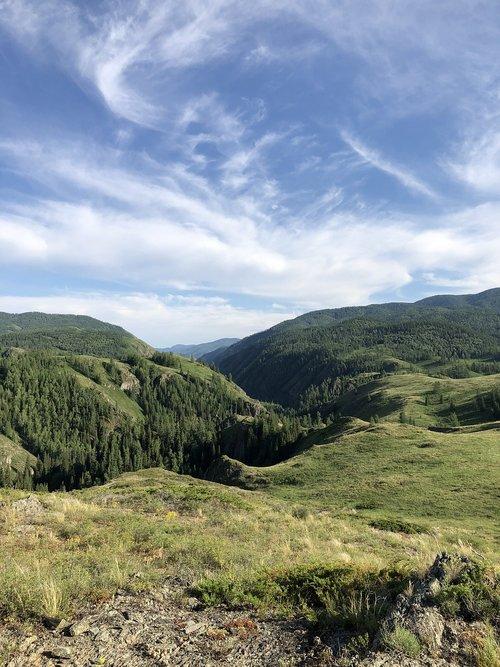 mountains  almaty  steppe