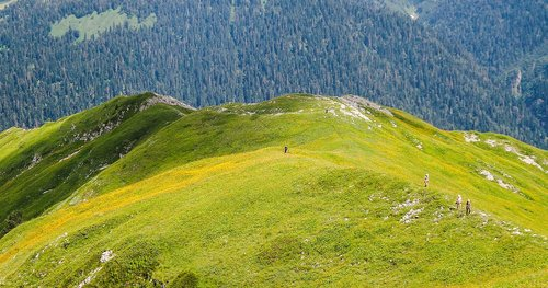 mountains  abkhazia  ritsa