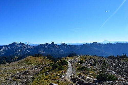 mountains  trail  path