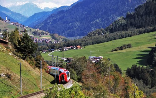 mountains  train  travel
