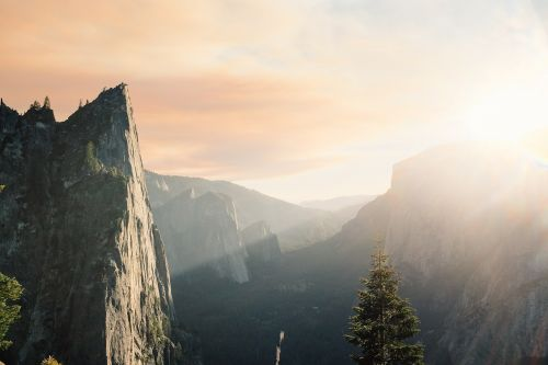mountains cliff steep