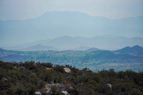 mountains  valley  california