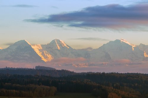 mountains  shining  eiger