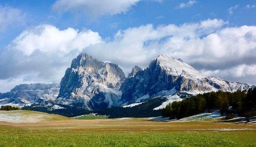 mountains  south tyrol  seiser alm