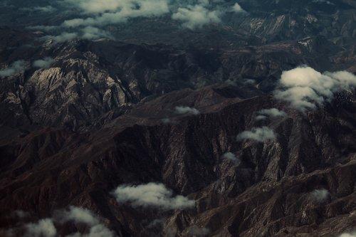 mountains  dark  cloudy