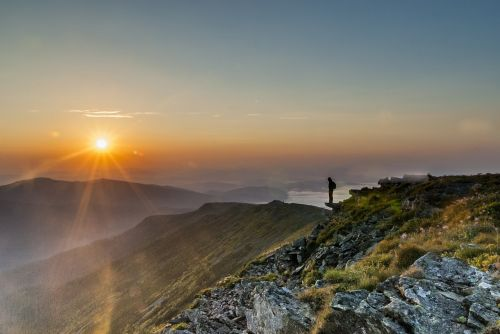 mountains sunrise beskids