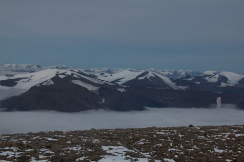 mountains arctic svalbard