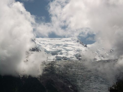 mountains glacier crevasse