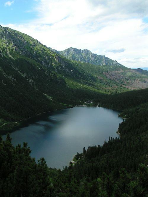 mountains morskie oko tatry