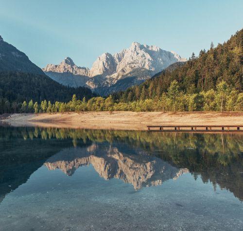 mountains postcard lake