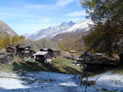 mountains zermatt spring