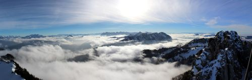mountains panorama clouds