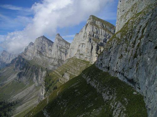 mountains alpine churfirsten